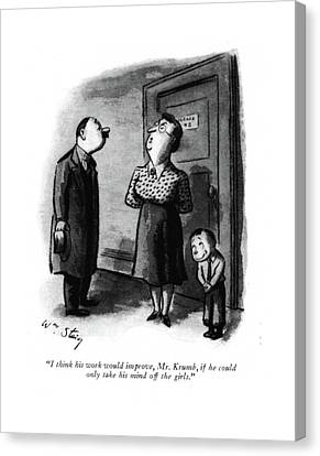 Schoolroom Canvas Print - I Think His Work Would Improve by William Steig