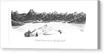 Mountains Canvas Print - I Think I Better Use My Wide-angle Lens by Robert J. Day
