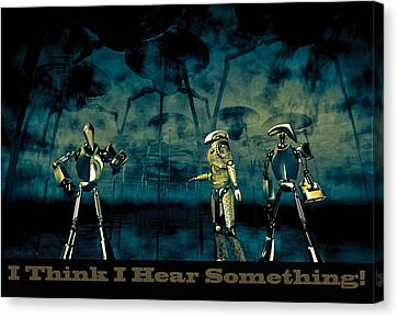 I Think I Hear Something Canvas Print by Bob Orsillo