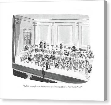 Orchestra Canvas Print - I Think We Ought To Make One More Good Strong by Robert J. Day