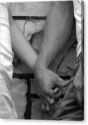 Canvas Print featuring the photograph I Wanna Hold Your Hand by Lesa Fine