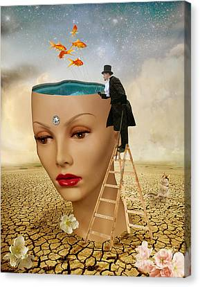 I Want To Look Inside Your Head Canvas Print