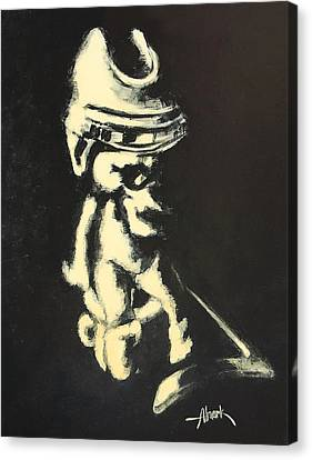 I Was Born To Play Hockey Canvas Print