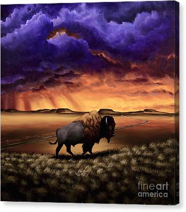Bison Heard Canvas Print - I Was Here Before You II by Ric Nagualero