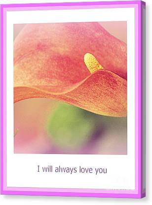I Will Always Love You Canvas Print by Susanne Van Hulst