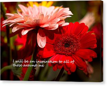 I Will Be An Inspiration Canvas Print by Patrice Zinck