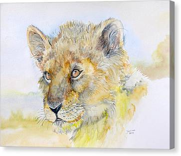I Will Be The Lion King Canvas Print by Janina  Suuronen