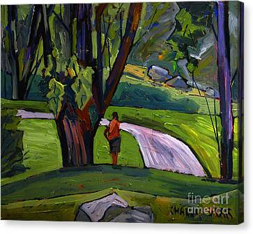 I Will Immortsalize You Golfer Canvas Print by Charlie Spear