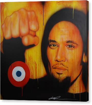 Ben Harper - ' I Will Look The World Straight In The Eye ' Canvas Print by Christian Chapman Art