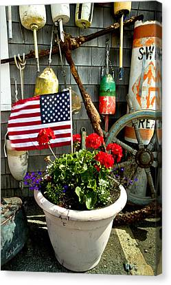 Sesuit Harbor Canvas Print - I Will Take One Flag With Everything by Carl Jacobs