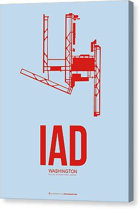 Iad Washington Airport Poster 2 Canvas Print by Naxart Studio