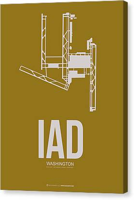 Iad Washington Airport Poster 3 Canvas Print by Naxart Studio