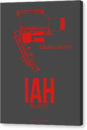 Metropolitan Canvas Print - Iah Houston Airport Poster 1 by Naxart Studio