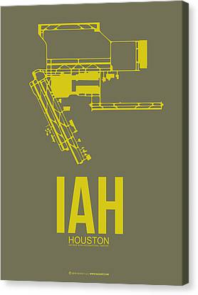 Iah Houston Airport Poster 2 Canvas Print by Naxart Studio