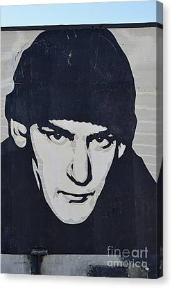 Ian Mackaye Canvas Print by Allen Beatty