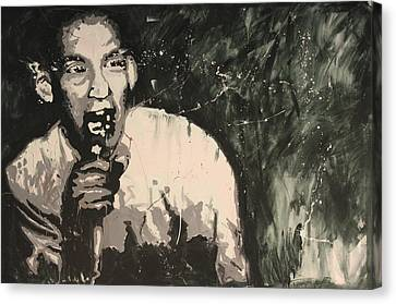 Ian Mackaye Of Minor Threat Canvas Print by Dustin Spagnola