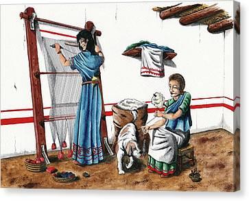 Iberian Wool Loom Canvas Print