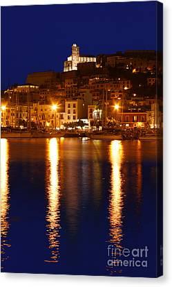 Ibiza Old Town At Night Canvas Print