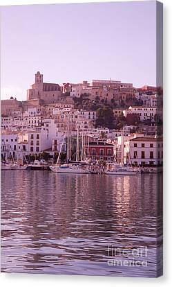 Ibiza Old Town In Early Morning Light Canvas Print