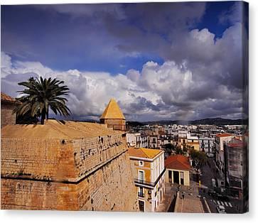 Ibiza Town Walls Canvas Print