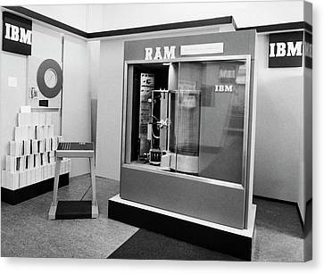 Ibm Ramac Hard Disk Drive Canvas Print by Ibm Research