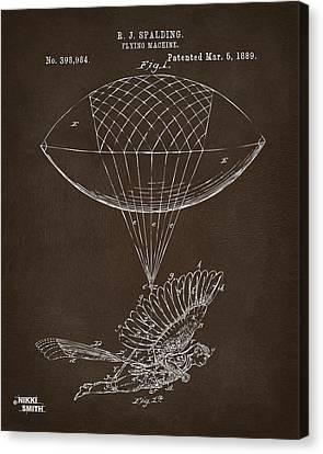Icarus Airborn Patent Artwork Espresso Canvas Print