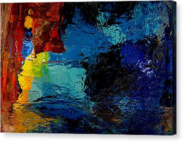 Ice Abstract Number One Canvas Print by Jeff Rennicke