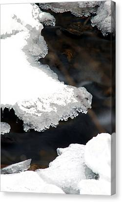 Ice And Water Canvas Print by Optical Playground By MP Ray