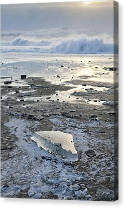 Ice And Waves Canvas Print