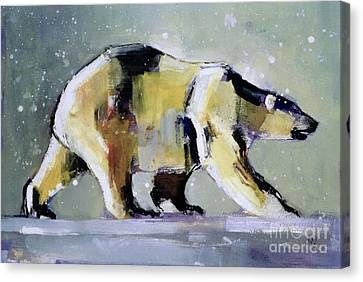 Ice Bear Canvas Print by Mark Adlington