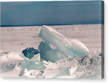 Ice Canvas Print by Brady D Hebert