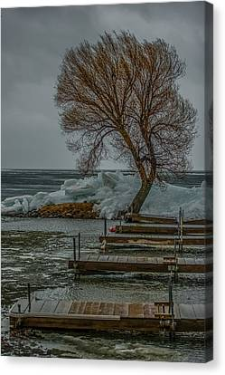 Personalized Canvas Print - Ice Buildup On Milacs by Paul Freidlund