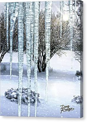 Ice Capades Canvas Print by Doug Kreuger