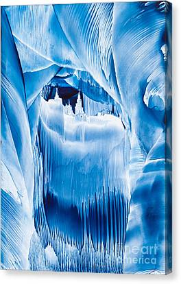 Ice Castles Wax Painting Canvas Print