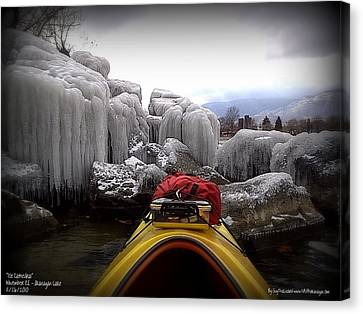 Canvas Print featuring the photograph Ice Cathedral - November Ice by Guy Hoffman