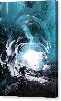 Ice Cave Entrance Canvas Print by Dr Juerg Alean