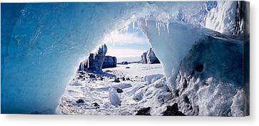 Ice Cave On A Polar Landscape, Gigja Canvas Print by Panoramic Images