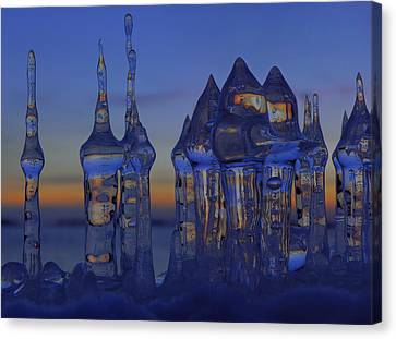 Canvas Print featuring the photograph Ice City by Sami Tiainen