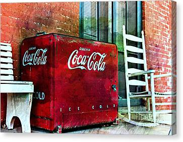 Screen Doors Canvas Print - Ice Cold Coca Cola by Benanne Stiens