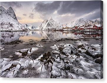 Ice Craking Canvas Print