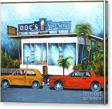 Ice Cream Restaurant In Delray Beach Fl Canvas Print