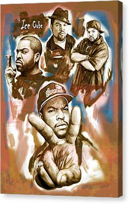Ice Cube Group Drawing Pop Art Sketch Poster Canvas Print by Kim Wang