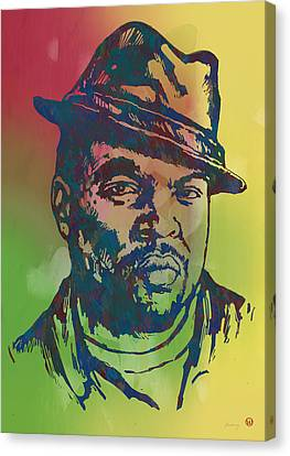 Shea Canvas Print - Ice Cube Pop Art Etching Poster by Kim Wang
