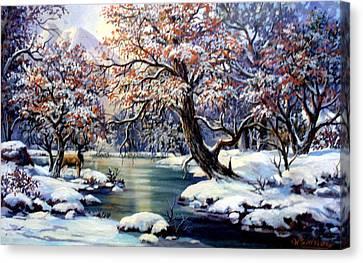 Ice Dreams Canvas Print by W  Scott Fenton