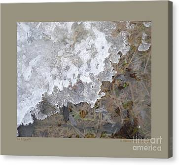 Ice Edges-iv Canvas Print by Patricia Overmoyer