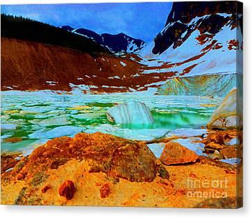 Ice Field Valley Canvas Print by John Kreiter