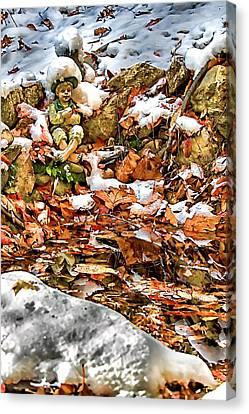 Ice Fishing Leprechaun Canvas Print