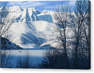 Ice Fishing On Deer Creek Reservoir Canvas Print