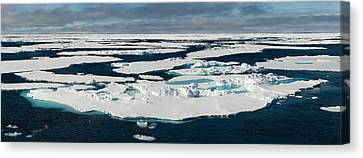 Ice Floes On The Arctic Ocean Canvas Print