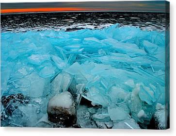 Ice Freeze # 2 - Horsey Bay - Kingston - Canada Canvas Print